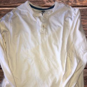 LONG SLEEVE HENLEY Cream MED